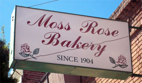 Moss Rose Bakery Sign